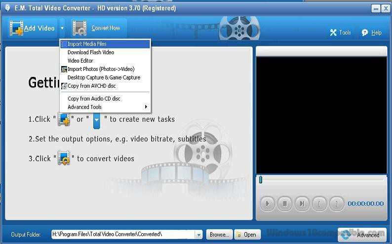 e.m.total video player gratuit